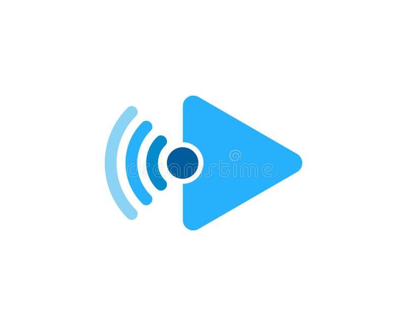 Wideo Wifi ikony loga projekta element royalty ilustracja