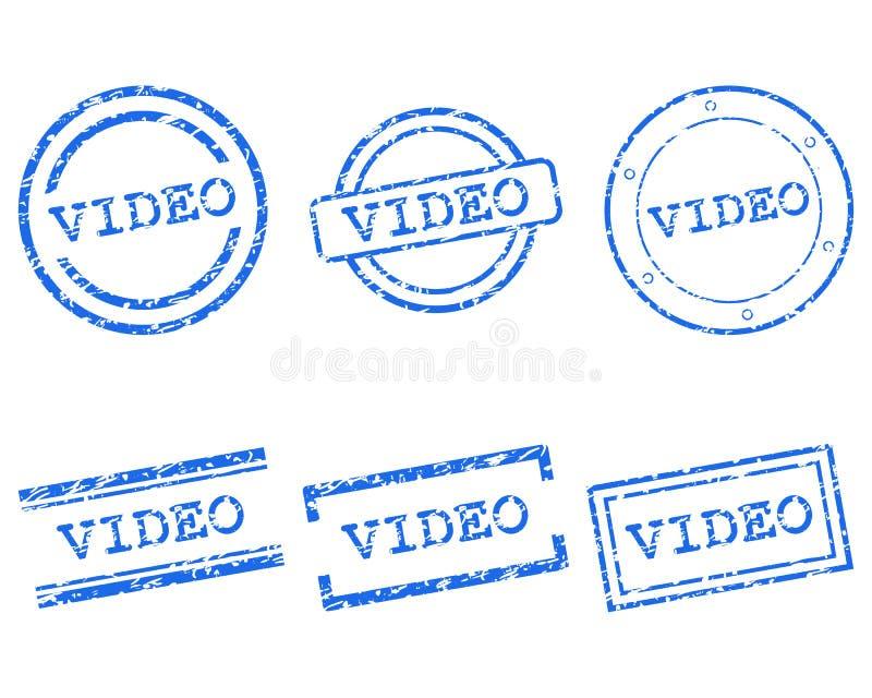 Wideo znaczek ilustracji
