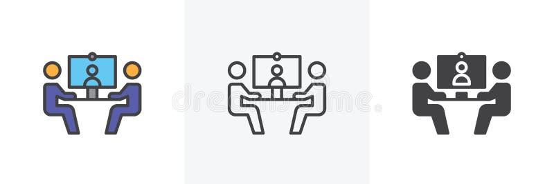 Wideokonferencja ikona royalty ilustracja