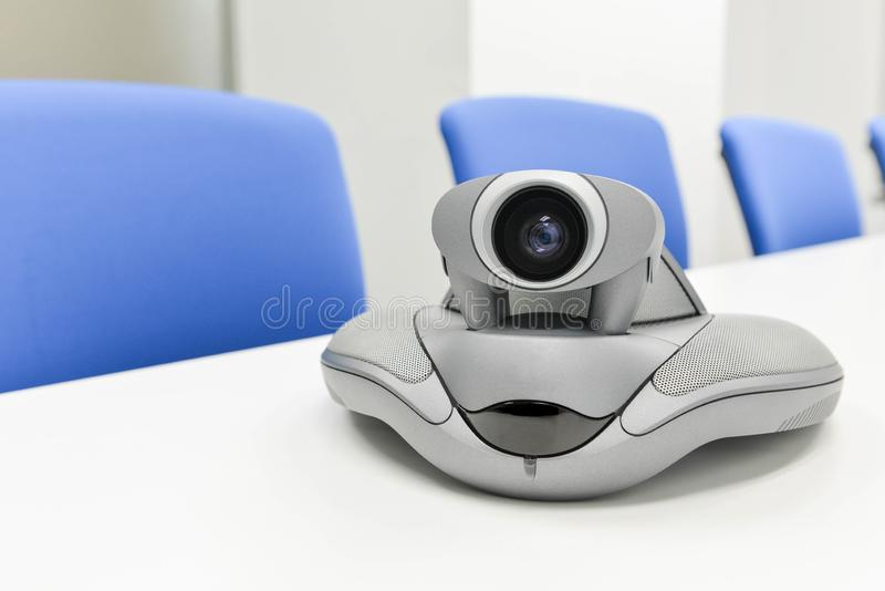 Wideokonferencja przyrz?d w pokoju konferencyjnym obrazy royalty free
