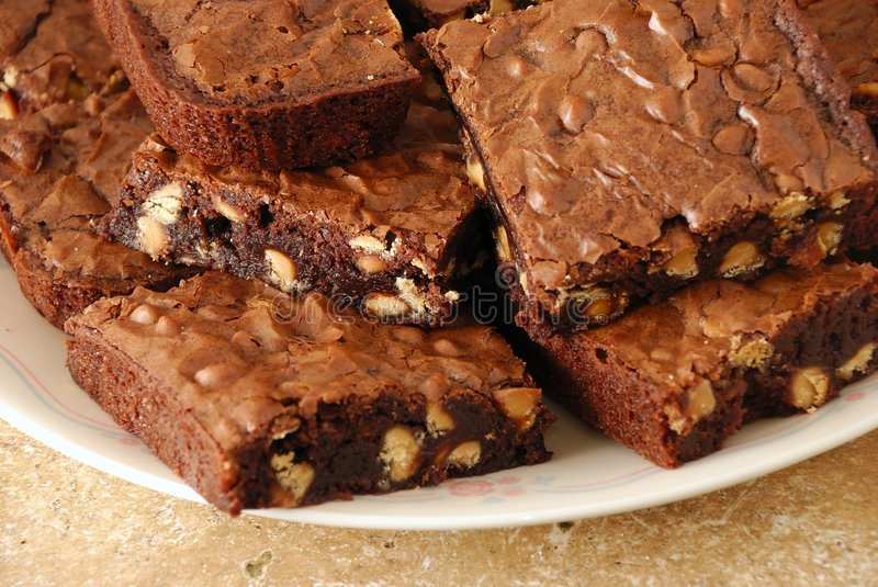 Download Wider View Of Fresh Baked Brownies Stock Image - Image: 4537787
