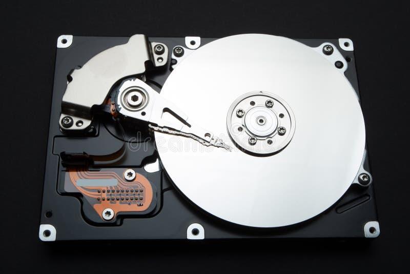 Widergespiegelte Festplatte eines Computers Das Konzept von Daten, von Hardware und von Informationstechnologie lizenzfreies stockfoto
