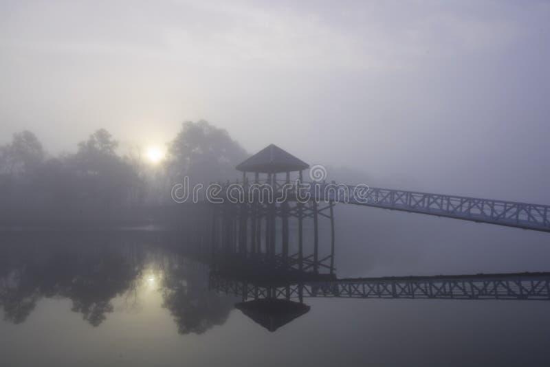 Widergespiegeltes Licht durch den Nebel lizenzfreie stockfotografie