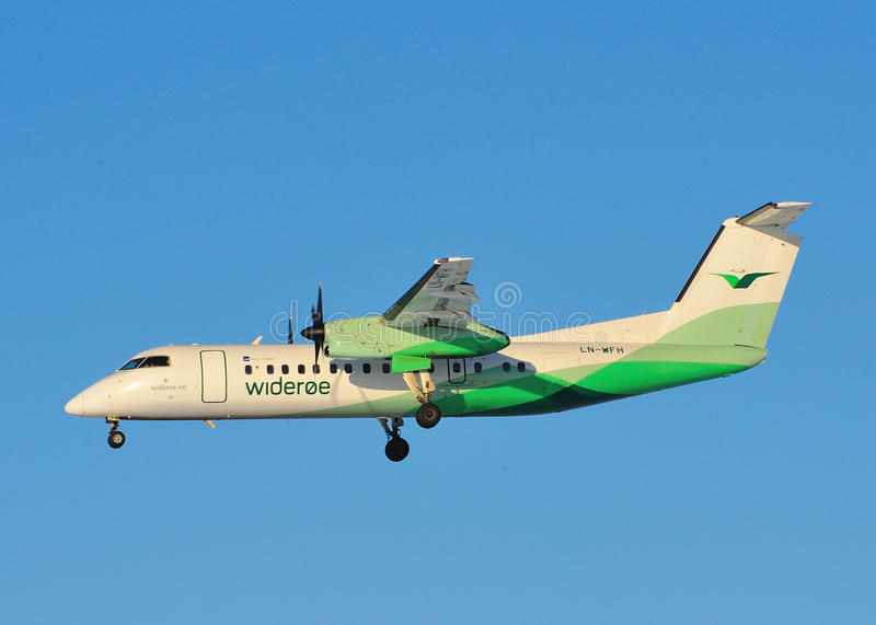 Wideroe Airlines Dash 8 Editorial Stock Image - Image ...