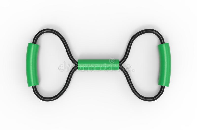 Widerstandskraft-elastisches Band mit Schaumgummi-Griff für Branding 3D-Darstellung lizenzfreie abbildung