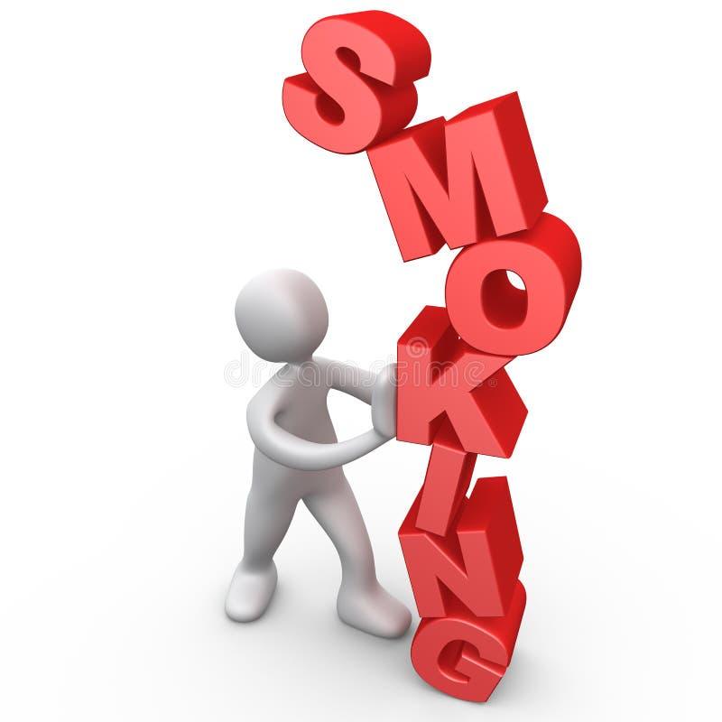 Widerstehen Sie zu rauchen stock abbildung
