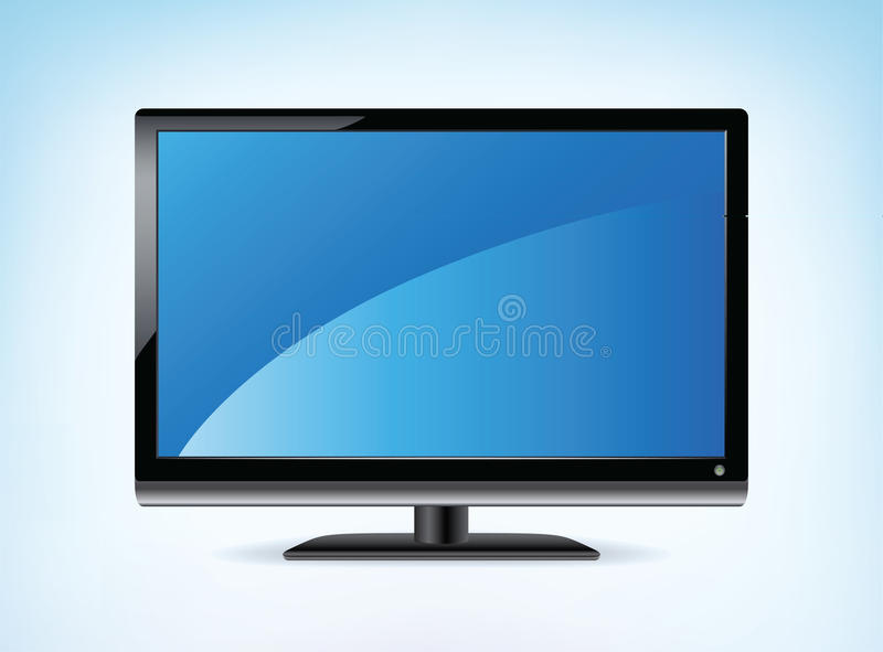 Widescreen HDTV Display. Widescreen HDTV Monitor in Vector format royalty free illustration
