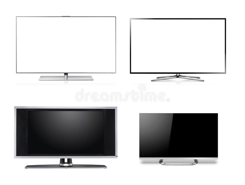 Widescreen HDTV LCD Monitor. Isolated on white royalty free illustration