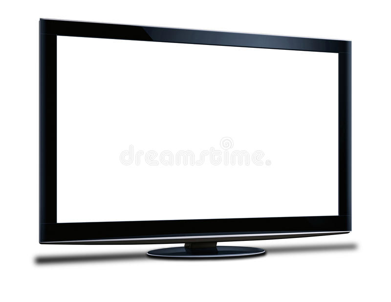 Widescreen hdtv lcd monitor. On the white background stock illustration