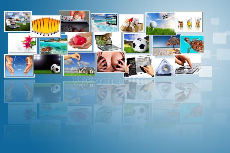 widescreen multimedior arkivfoto