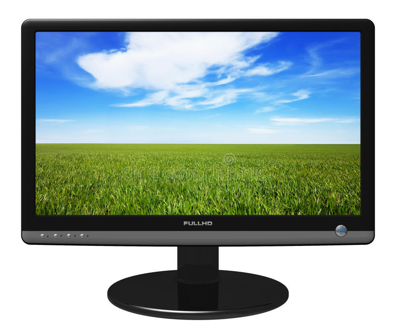 Download Widescreen TFT display stock illustration. Image of leisure - 15158716