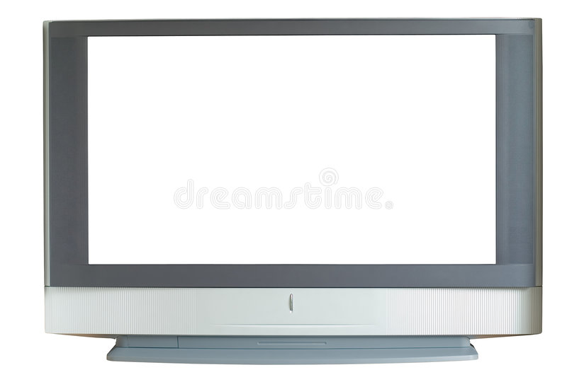 Widescreen TV stock images