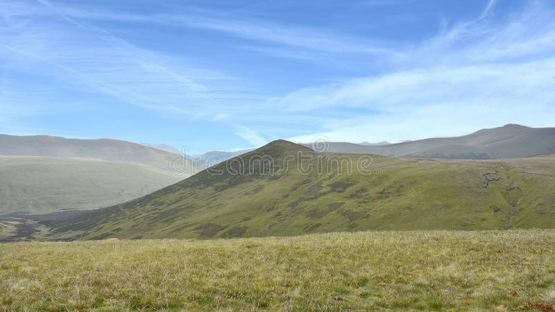 Looking over to Great Calva, Lake District royalty free stock photography