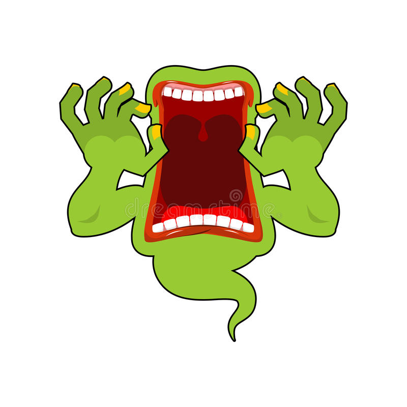 widma Dziki wycie Straszni duchów krzyki Okropny wraith przelęknienie ilustracja wektor