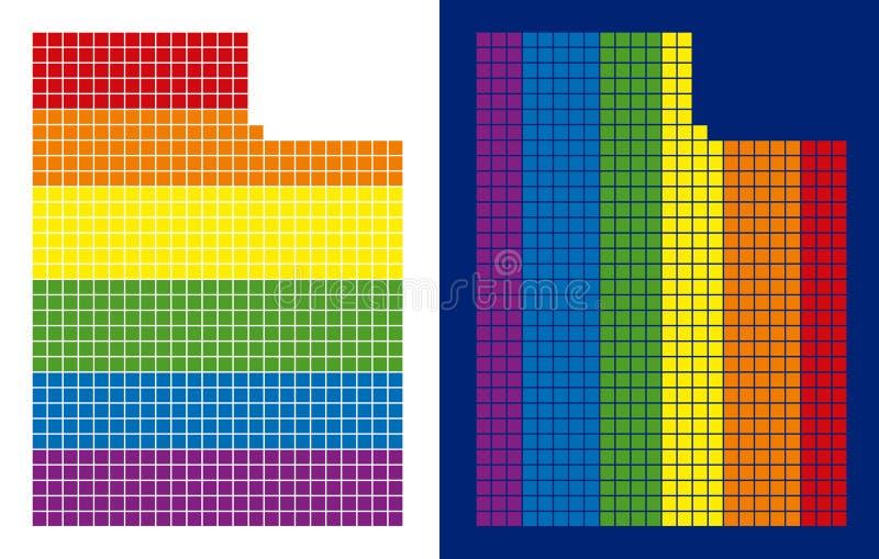 Widma Utah stanu piksel Kropkująca mapa ilustracji