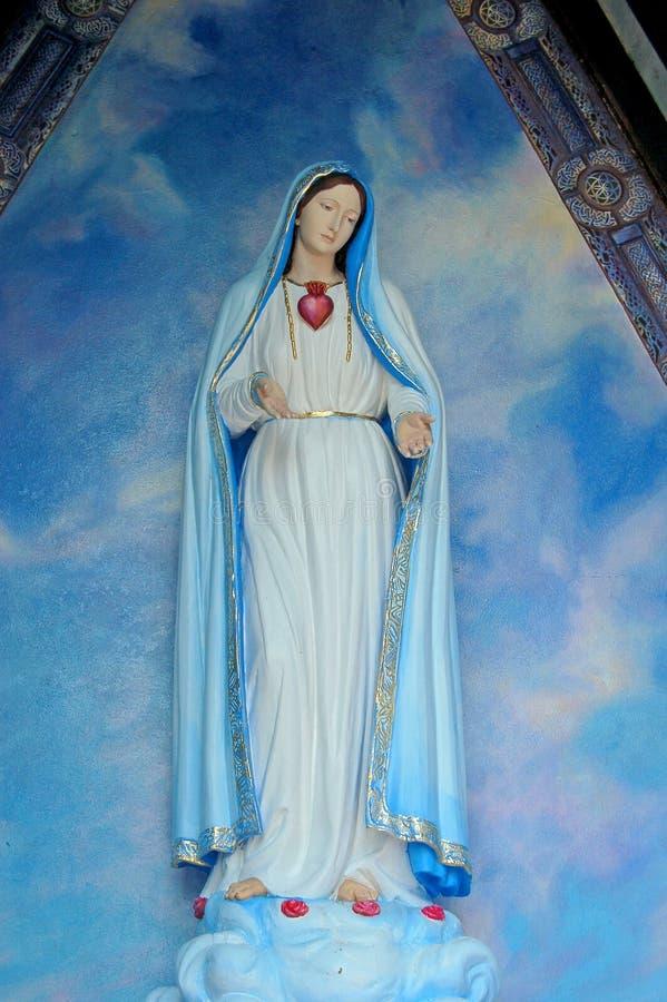 Widmen Sie sich Mary in weniger Kapelle stockbild