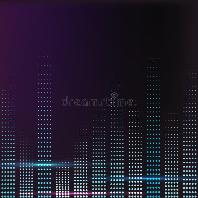 Widmo kolorowa muzyczna pojemność ilustracja wektor