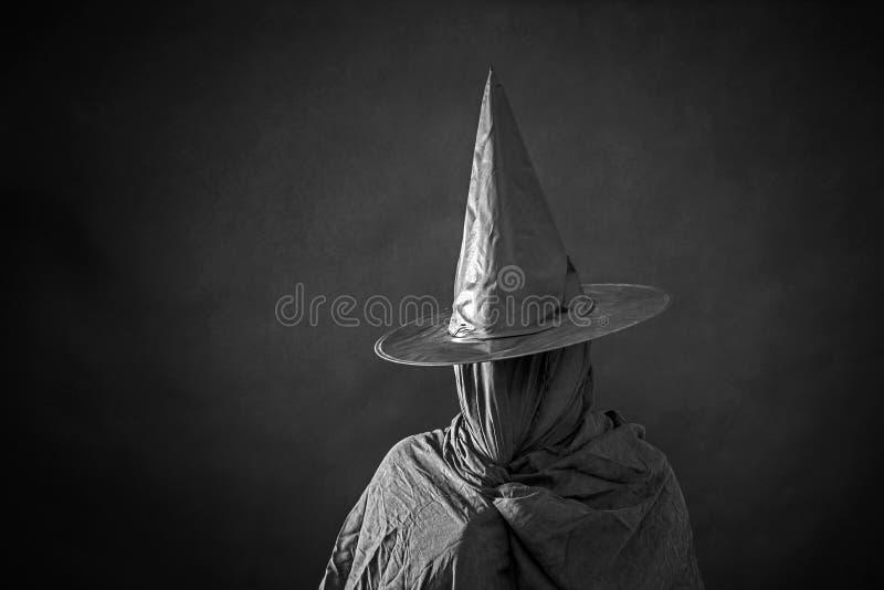 Widmowa postać z długim kapeluszem zdjęcia stock