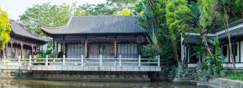 Widoczny Antyczny Chiński Drewniany dom obraz stock