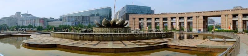 Widoczny Quancheng kwadrat w Jinan, Chiny zdjęcie royalty free