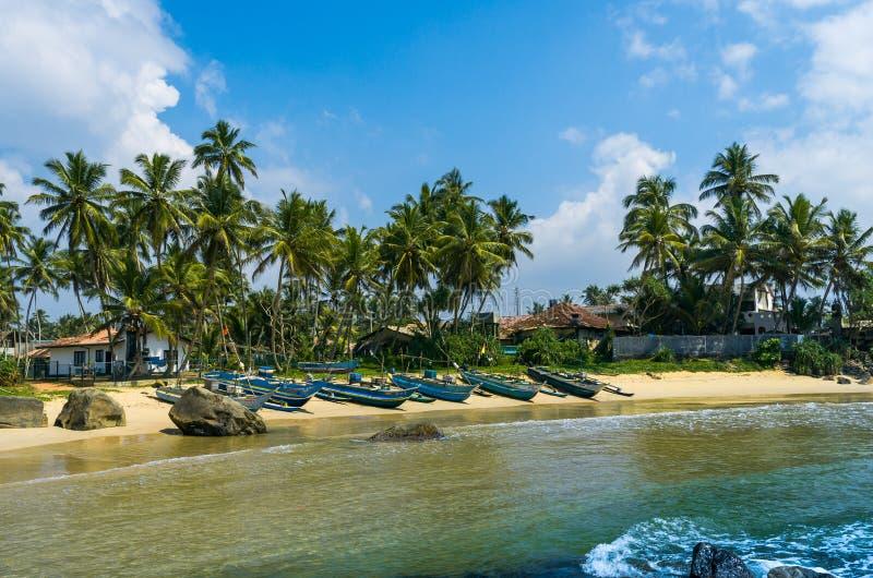 Widok ładna tropikalna plaża fotografia royalty free