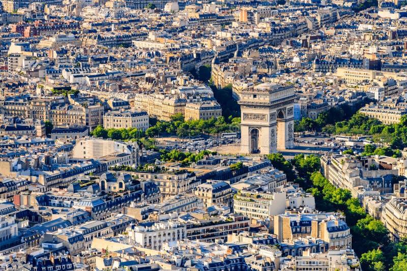 Widok Łuk De Triomphe obraz stock