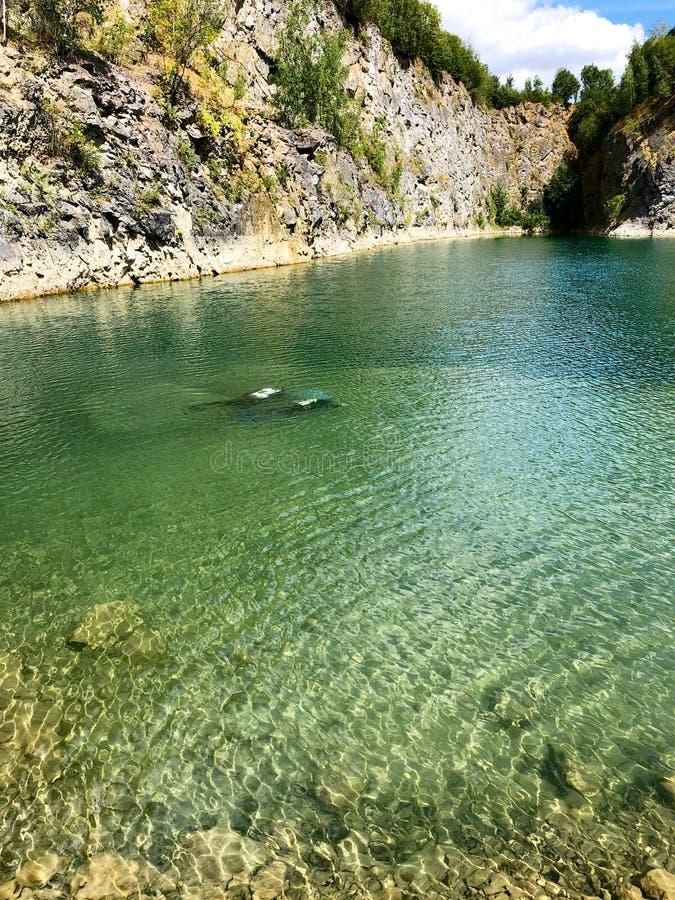 Widok łup Nura miejsce Sławna lokacja dla świeża woda nurków i czasu wolnego przyciągania zdjęcie stock