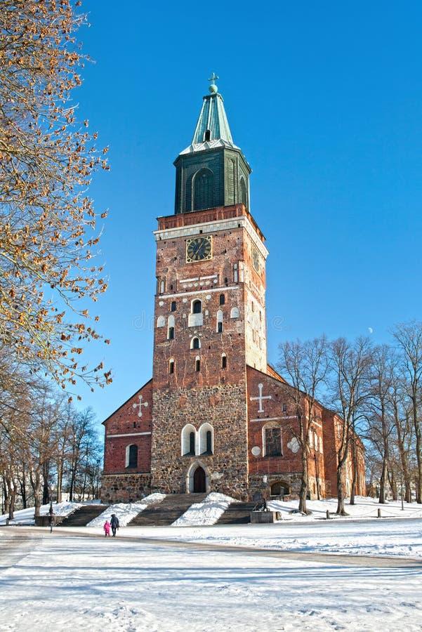 Widok średniowieczna Luterańska katedra xiii wiek na a fotografia stock