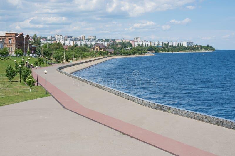 Widok środkowy deptaka Kamyshin Volgograd region obrazy royalty free