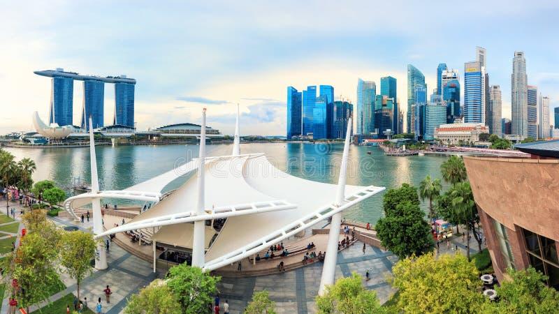 Widok środkowy Singapur zdjęcia stock
