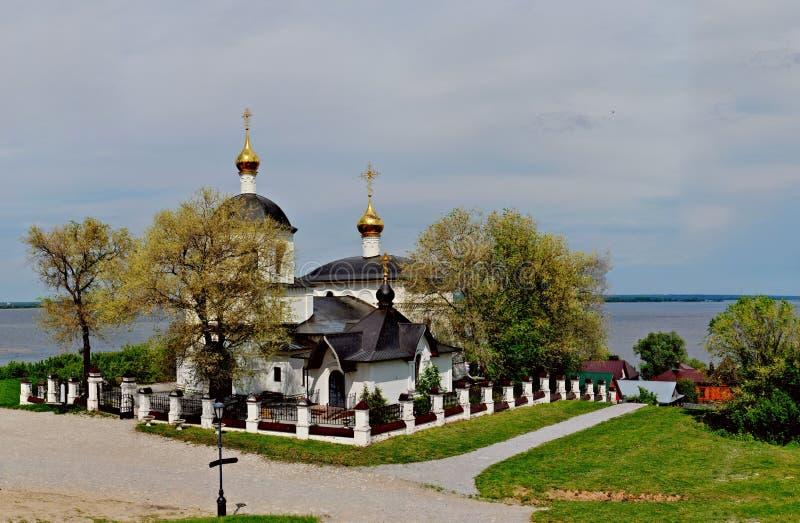 Widok świątynia na cześć świętego równego apostoła Tsar Constantine i jego matka Helena obrazy stock