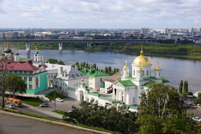 Widok ?wi?tynia na cze?? St Alexis, metropolita Moskwa w Nizhny Novgorod zdjęcie stock