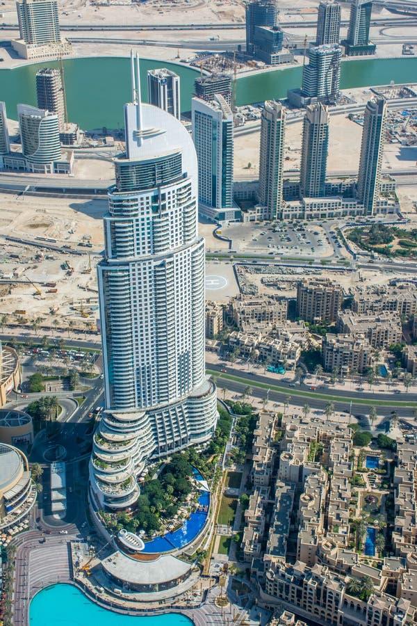 Widok adresu hotel Od Burj Al Khalifa, Dubaj zdjęcie royalty free