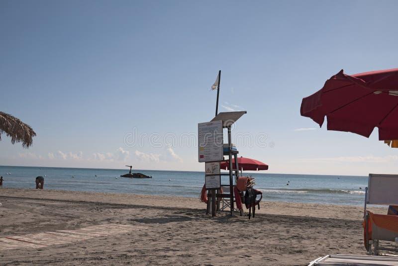 Widok Alimini plaża fotografia stock