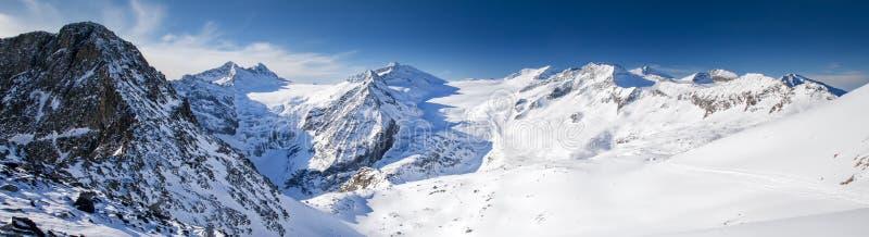 Widok Alps od Presena lodowa, Tonale, Włochy obraz royalty free