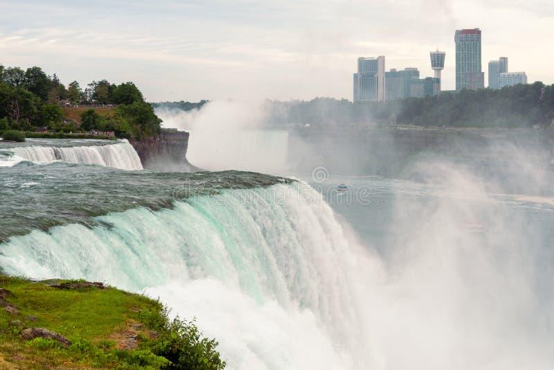 Widok Amerykańscy spadki, Niagara, NY obraz stock