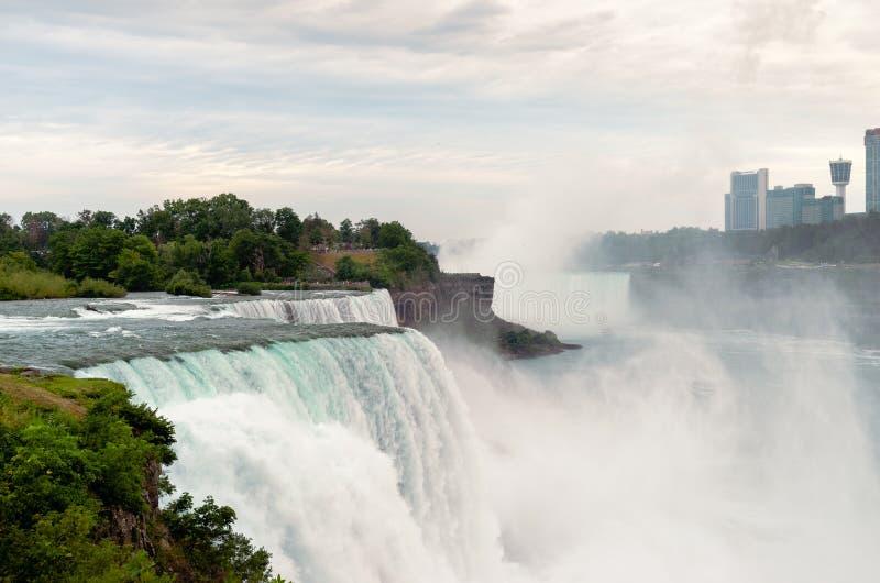 Widok Amerykańscy spadki, Niagara, NY obrazy stock