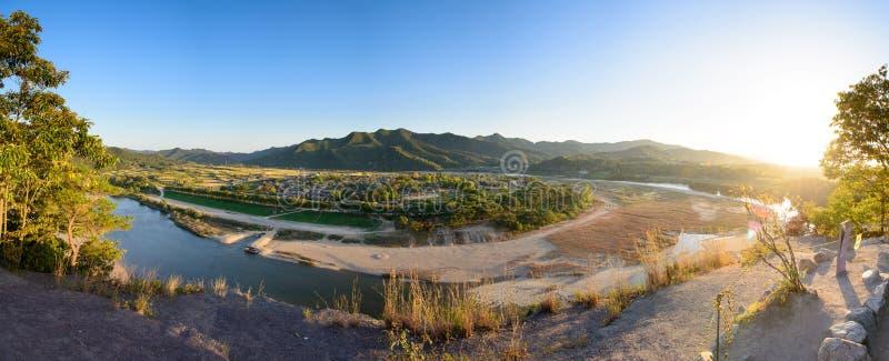 Widok Andong Hahoe ludu wioska zdjęcie stock