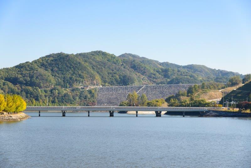 Widok Andong tama w Korea fotografia stock