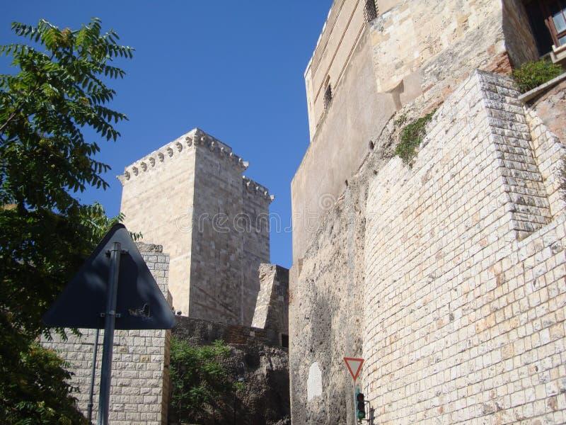 Widok antyczne kamienne ściany forteca fotografia royalty free