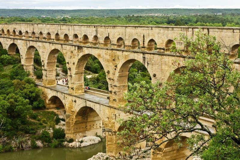 France Antyczny Pont du Gard zdjęcia stock