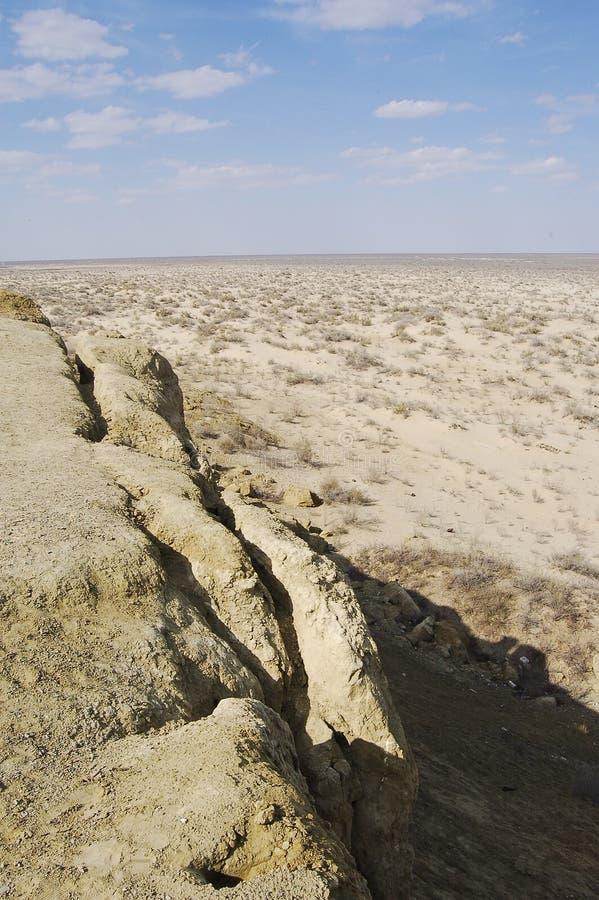 Widok Aral jezioro obraz stock