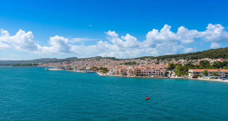 Widok Argostoli miasteczko fotografia royalty free