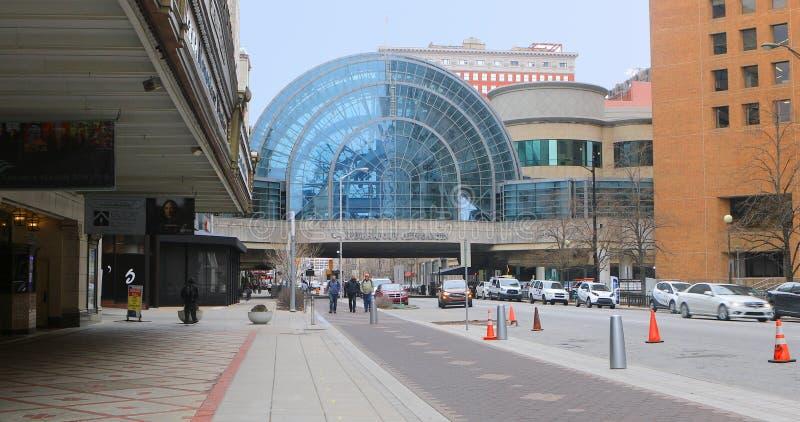 Widok Artsgarden budynek w Indianapolis, Indiana obrazy royalty free