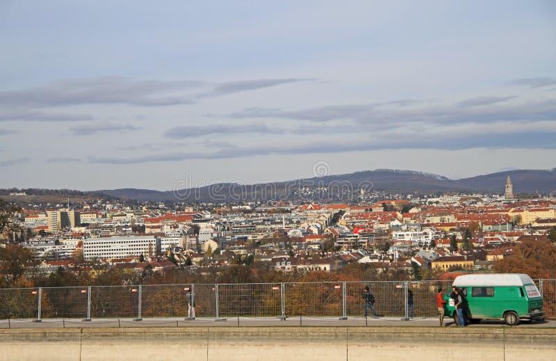 Widok austriacki kapitał Wiedeń zdjęcia royalty free
