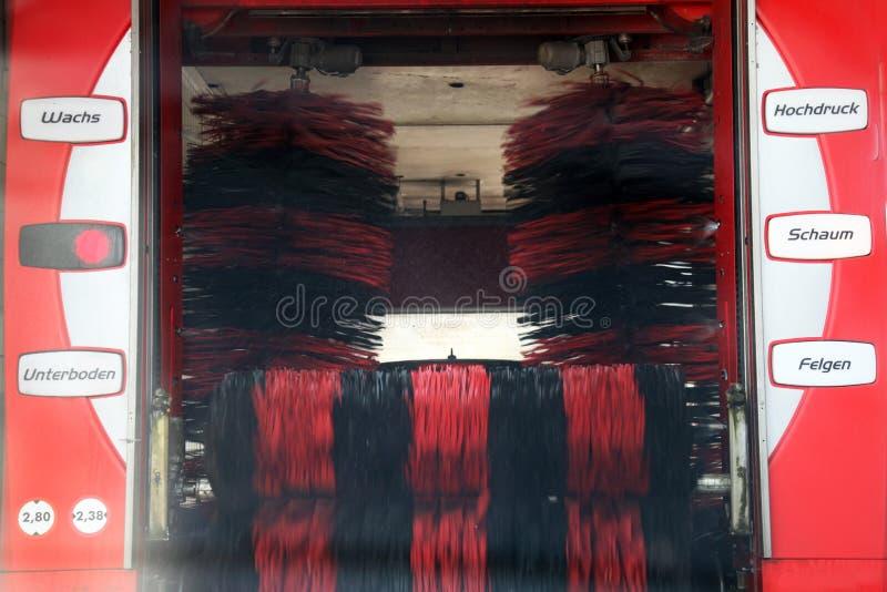 Widok automatyzujący samochodowy obmycie zdjęcie royalty free