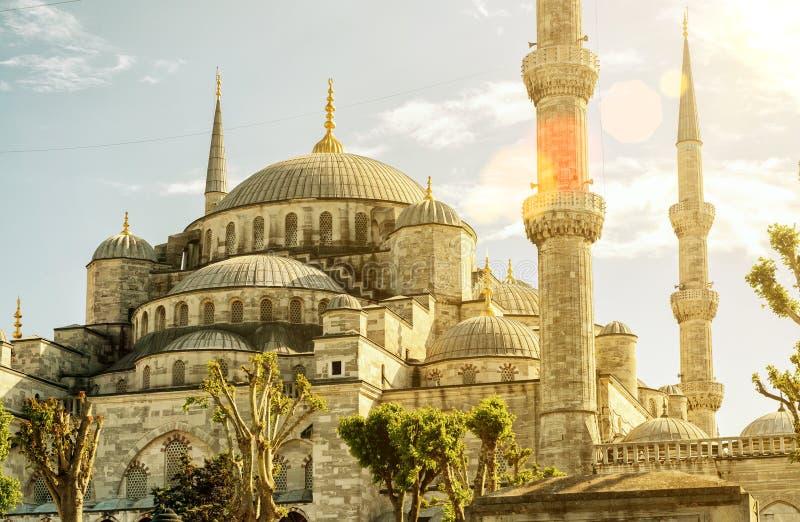 Widok Błękitny meczet w Istanbuł (Sultanahmet Camii) obraz royalty free