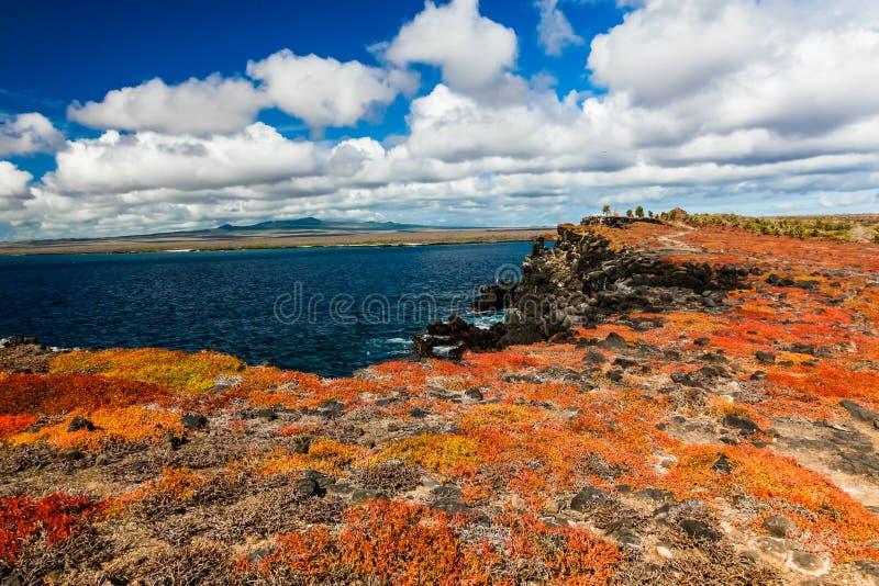 Widok błękitny morze od górnej części Isla plac Sura obrazy royalty free