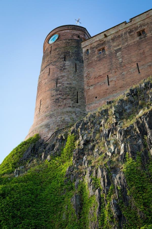 Widok Bamburgh kasztel, Northumberland, UK fotografia royalty free