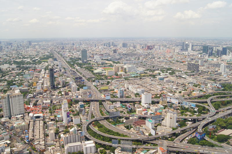 Widok Bangkok od eighty-fourth podłoga obraz stock